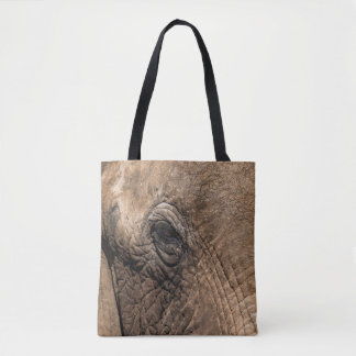 Face of an Elephant Tote Bag