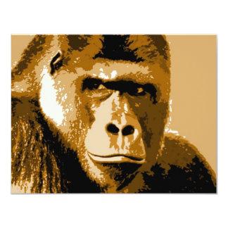 Face of Gorilla 11 Cm X 14 Cm Invitation Card