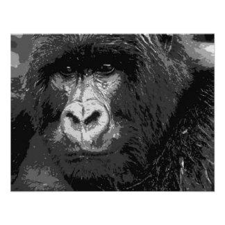 Face of Gorilla Custom Invitation