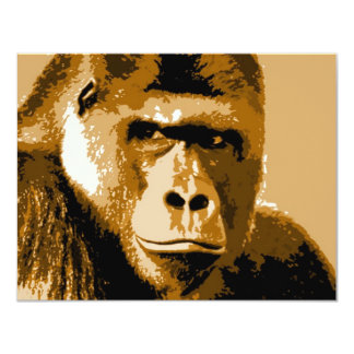 Face of Gorilla Custom Invitations