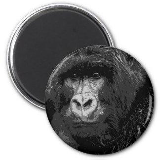 Face of Gorilla 6 Cm Round Magnet