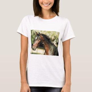 Face of Horse Mosaic Tiles T-Shirt
