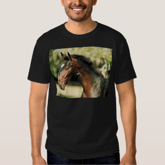 Face of Horse Mosaic Tiles Tees