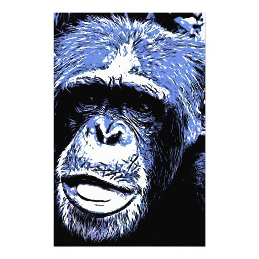 Face of Monkey monkey face Stationery Design