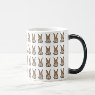 Face of rabbit of 60 feathers morphing mug