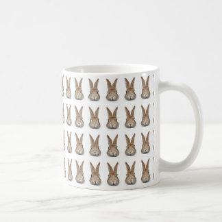Face of rabbit of 60 feathers basic white mug