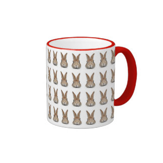 Face of rabbit of 60 feathers ringer mug