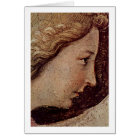 Face Of The Annunciation Angel By Fra Angelico Card