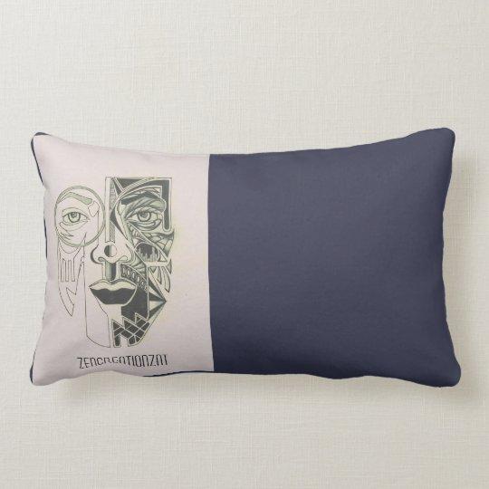Face of two halves lumbar cushion