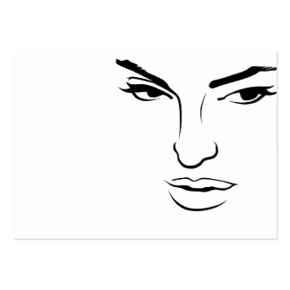 Face of Woman Pack Of Chubby Business Cards