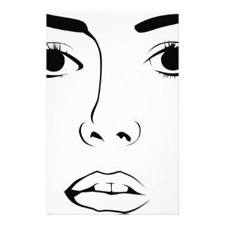 Face OF Woman Personalized Stationery