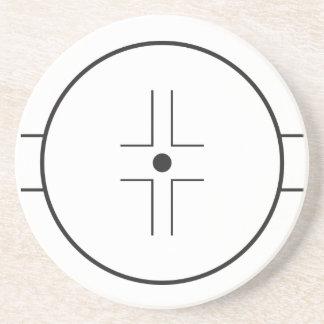 Face-off circle sandstone coaster