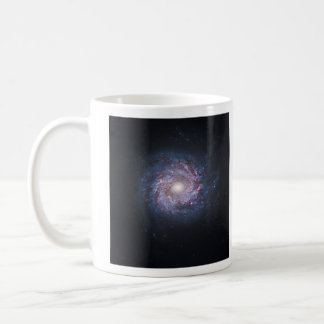 Face On Spiral Galaxy NGC 3982 from the Hubble Basic White Mug