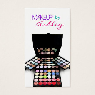 Face Paint Palette and Brushes - Makeup Artist Business Card