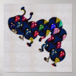 FACE painted CATERPILLAR funny   NavinJOSHI NVN129 Print