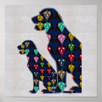 FACE painted LABRADOR dog pet NavinJOSHI NVN126 Posters
