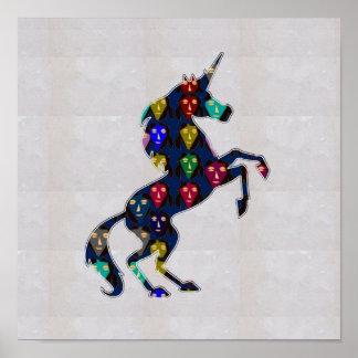 FACE painted UNICORN horse wild NavinJOSHI NVN117 Print