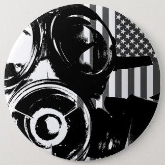 FACE PALM Retro Gas Mask Design 2 Button