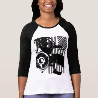 Face Palm Retro Gas Mask Women's Shirt