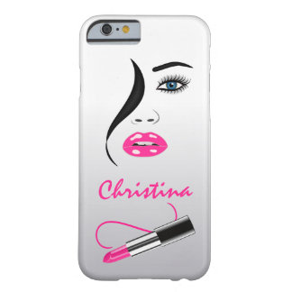 Face Pink Lipstick Kiss Mirror Slim iPhone 6 6S Barely There iPhone 6 Case