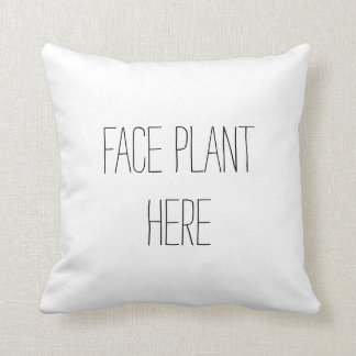 Face Plant Funny Pillow