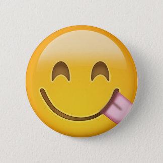 Face Savouring Delicious Food Emoji 6 Cm Round Badge