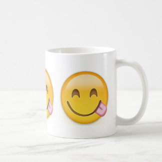 Face Savouring Delicious Food Emoji Coffee Mug