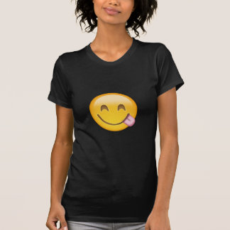 Face Savouring Delicious Food Emoji Shirt