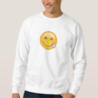 Face Savouring Delicious Food Emoji Sweatshirt
