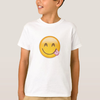 Face Savouring Delicious Food Emoji Tee Shirts