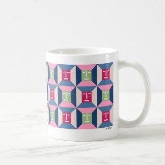 Face Squares 3 Basic White Mug