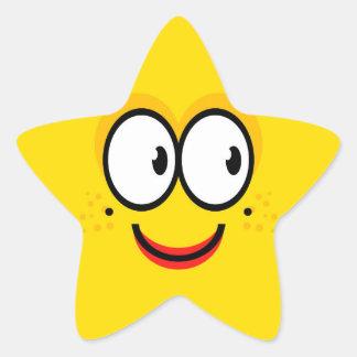 Face - Star Sticker