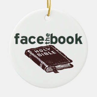 Face The Book Christmas Ornament