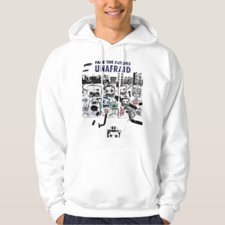 FACE THE FUTURE UNAFRAID - ROBOT HOODIE