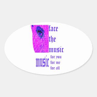 Face The Music Modern Sticker