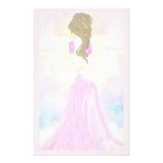 Face The Sun Pink Angel Stationery