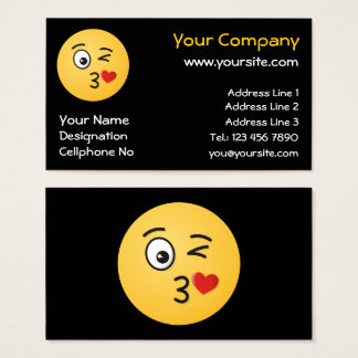 Face Throwing a Kiss Business Card