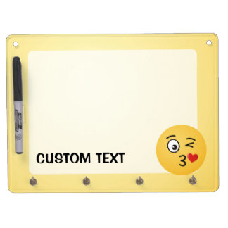 Face Throwing a Kiss Dry Erase Board With Key Ring Holder