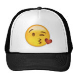 Face Throwing A Kiss Emoji Cap