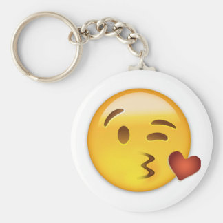 Face Throwing A Kiss Emoji Key Ring