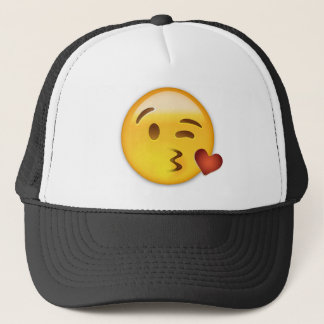 Face Throwing A Kiss Emoji Trucker Hat