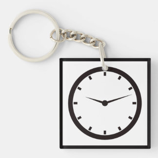 Face Time Clocked Key Ring