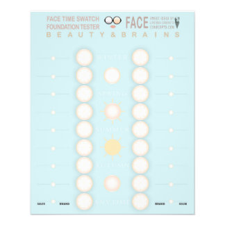 Face Time Foundation Tester Swatch 11.5 Cm X 14 Cm Flyer