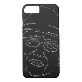 Face white line iPhone case