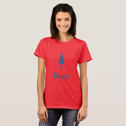 Face with arrow pointing upwards T Shirt
