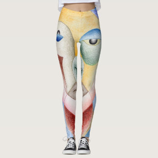Face with circles leggings