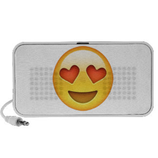 Face with heart shaped eyes emoji sticker portable speaker