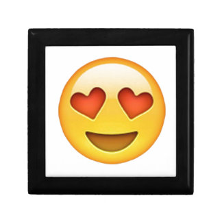 Face with heart shaped eyes emoji sticker small square gift box