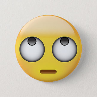 Face With Rolling Eyes Emoji 6 Cm Round Badge