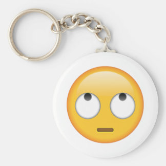 Face With Rolling Eyes - Emoji Key Ring